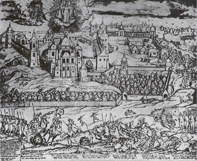Image - Nykodym Zubrytsky: Turkish Siege of Pochaiv (1704).