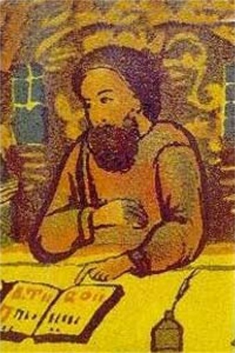 Image - Lavrentii Zyzanii on a book illumination.